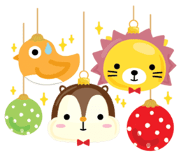Squly & Friends: Merry Xmas sticker #1373933