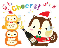 Squly & Friends: Merry Xmas sticker #1373935