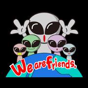 สติ๊กเกอร์ไลน์ Japan Travel of space alien.