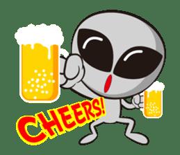 Japan Travel of space alien. sticker #1377954