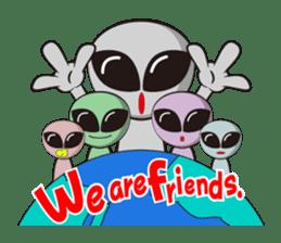Japan Travel of space alien. sticker #1377960