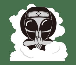 Japan Travel of space alien. sticker #1377980