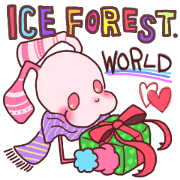 สติ๊กเกอร์ไลน์ ICE FOREST World