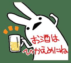 Party Rabbit Utan sticker #1382429