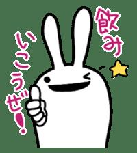 Party Rabbit Utan sticker #1382443