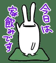 Party Rabbit Utan sticker #1382453