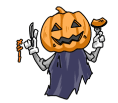 Jack-o-lantern the Pumpkin Man sticker #1383992