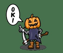 Jack-o-lantern the Pumpkin Man sticker #1383996