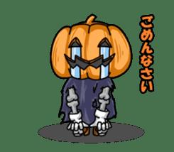 Jack-o-lantern the Pumpkin Man sticker #1384004
