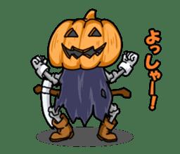 Jack-o-lantern the Pumpkin Man sticker #1384006