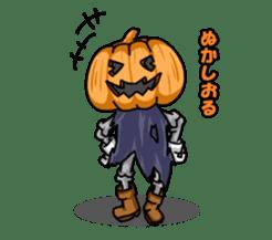 Jack-o-lantern the Pumpkin Man sticker #1384009