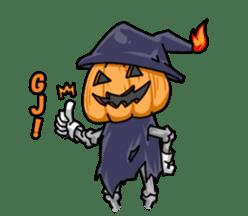 Jack-o-lantern the Pumpkin Man sticker #1384011
