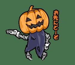 Jack-o-lantern the Pumpkin Man sticker #1384012