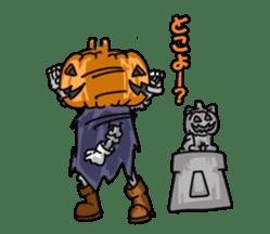 Jack-o-lantern the Pumpkin Man sticker #1384022