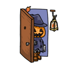 Jack-o-lantern the Pumpkin Man sticker #1384023