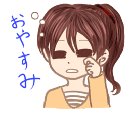 A girl's expression sticker #1384833
