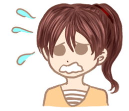A girl's expression sticker #1384853