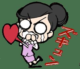 Dogeza Woman sticker #1386077