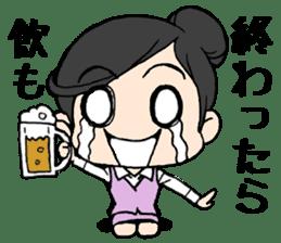 Dogeza Woman sticker #1386078