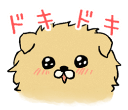 Soft and fluffy dog pu-chan! sticker #1389802