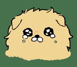 Soft and fluffy dog pu-chan! sticker #1389803