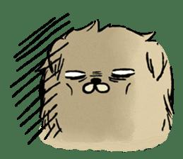 Soft and fluffy dog pu-chan! sticker #1389805