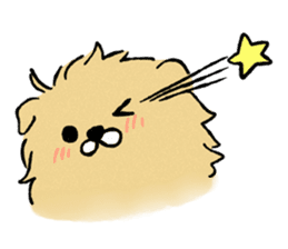 Soft and fluffy dog pu-chan! sticker #1389808
