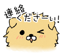 Soft and fluffy dog pu-chan! sticker #1389815