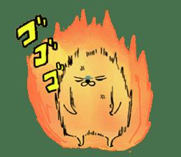 Soft and fluffy dog pu-chan! sticker #1389818