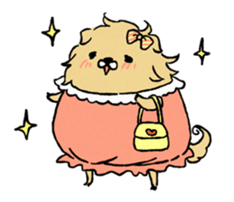 Soft and fluffy dog pu-chan! sticker #1389825
