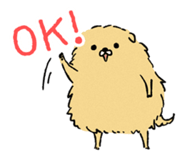 Soft and fluffy dog pu-chan! sticker #1389827
