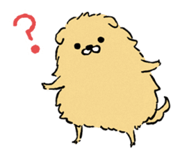 Soft and fluffy dog pu-chan! sticker #1389829