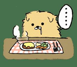 Soft and fluffy dog pu-chan! sticker #1389840