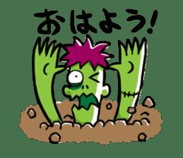 Zombies live everyday sticker #1394970