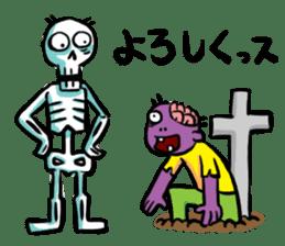 Zombies live everyday sticker #1394971