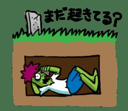 Zombies live everyday sticker #1394973