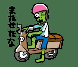 Zombies live everyday sticker #1394977