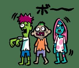 Zombies live everyday sticker #1394980