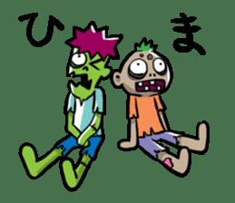 Zombies live everyday sticker #1394981