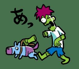 Zombies live everyday sticker #1394994