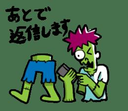 Zombies live everyday sticker #1394996