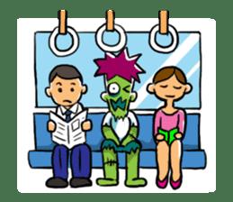 Zombies live everyday sticker #1394997
