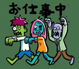 Zombies live everyday sticker #1394998