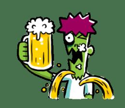 Zombies live everyday sticker #1395000