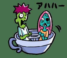 Zombies live everyday sticker #1395002