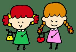 Daily life of Haru and Ruu sticker #1395107