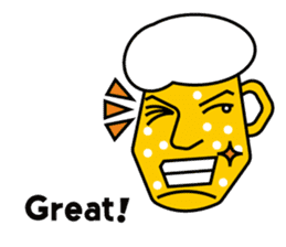 Mr. Beer  For drinking parties(ENG) sticker #1395292