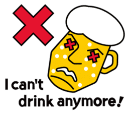 Mr. Beer  For drinking parties(ENG) sticker #1395293
