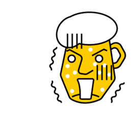 Mr. Beer  For drinking parties(ENG) sticker #1395320
