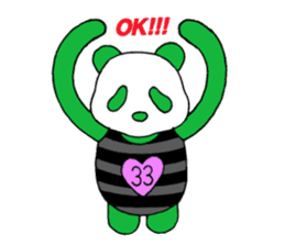 The baby of a bamboo grass color panda sticker #1395695